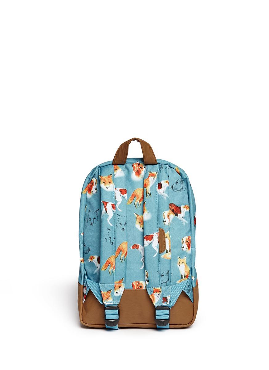 狐狸小狗印花儿童背包