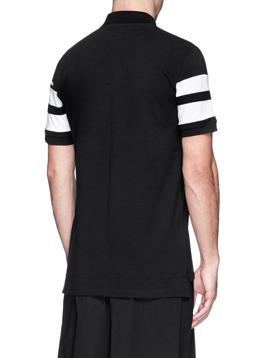 纯棉条纹马球衬衫