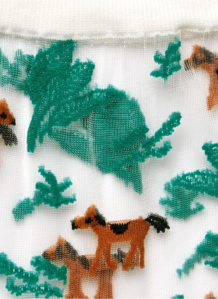 森林小马图案短袜图片