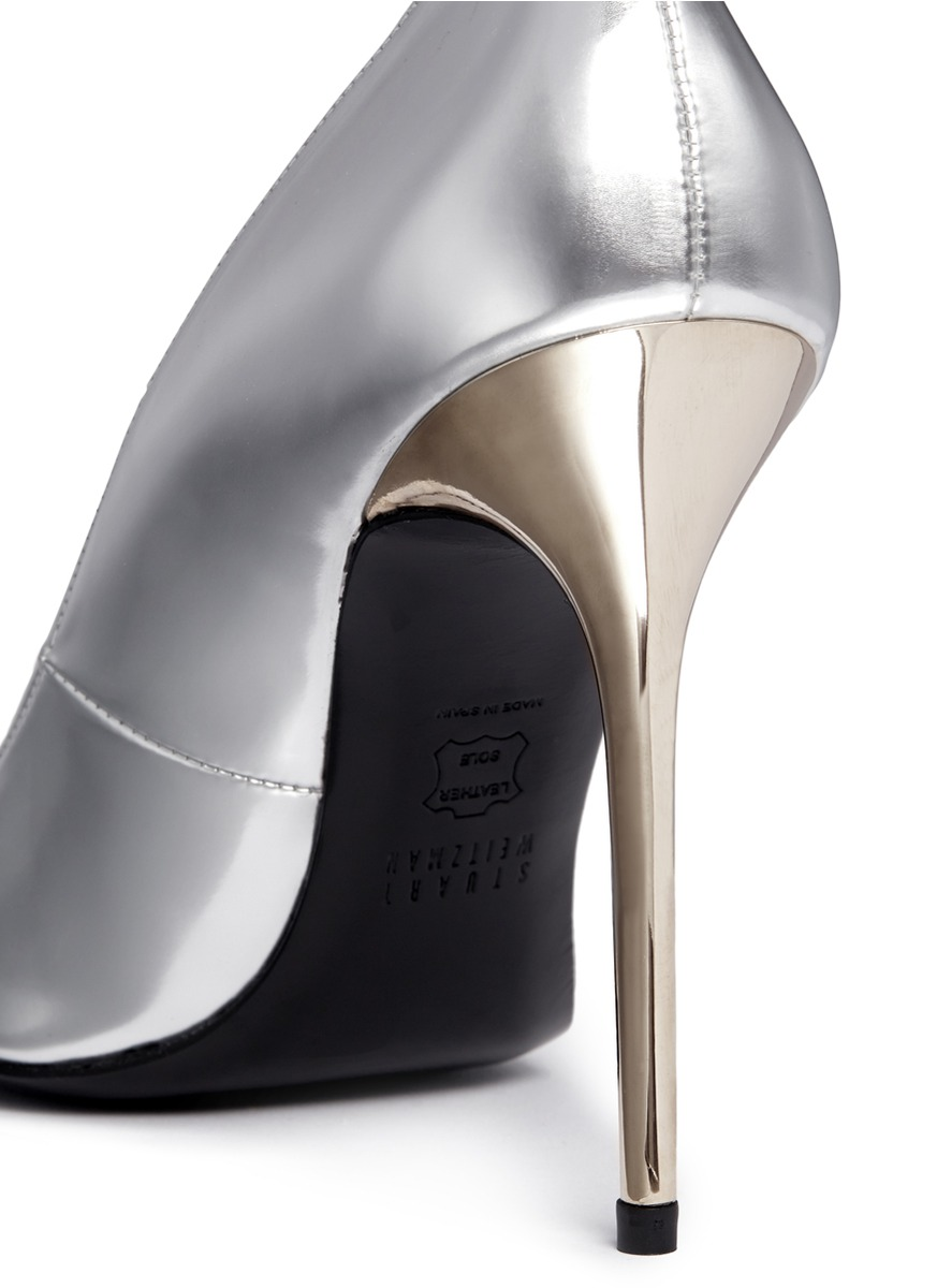 stuart weitzman - 尖头高跟鞋 | 金属 跟鞋 高跟