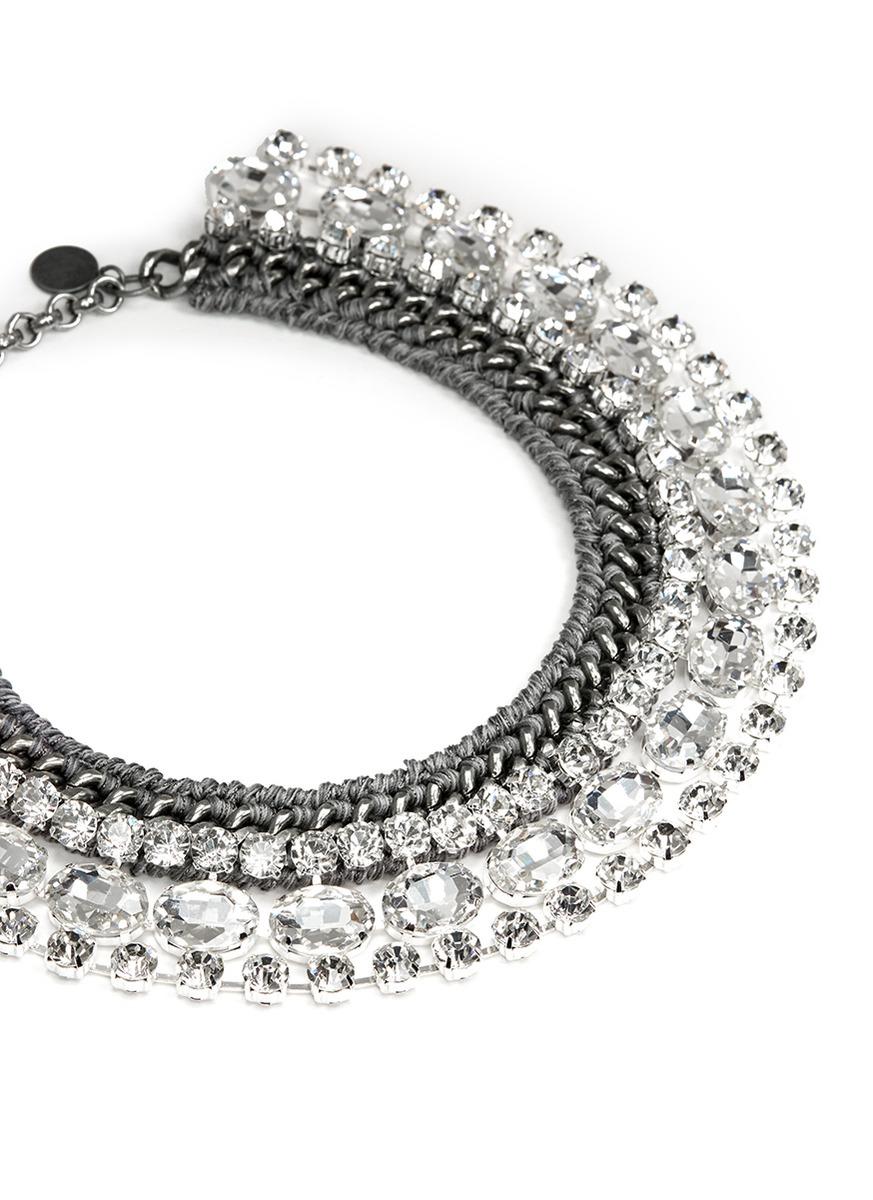 queen编织水晶项链