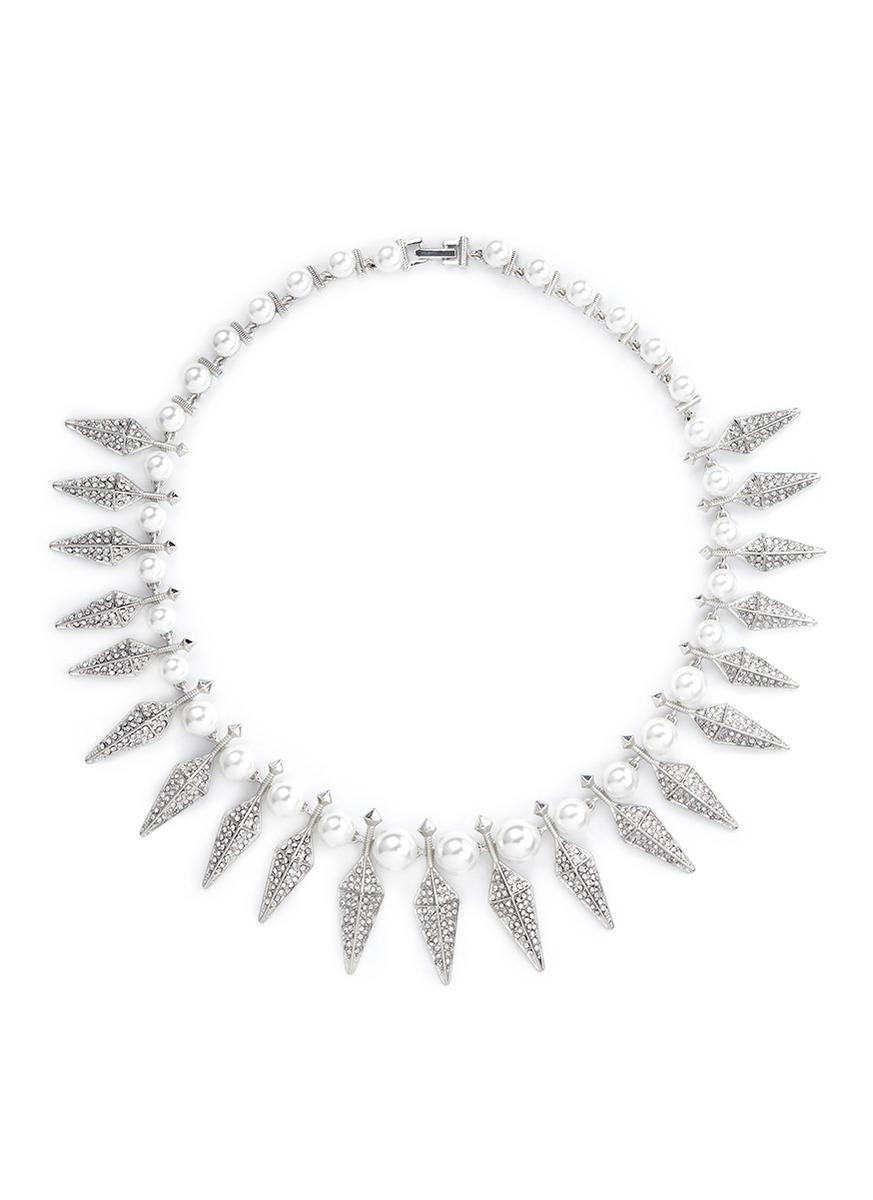 珍珠尖钉项链