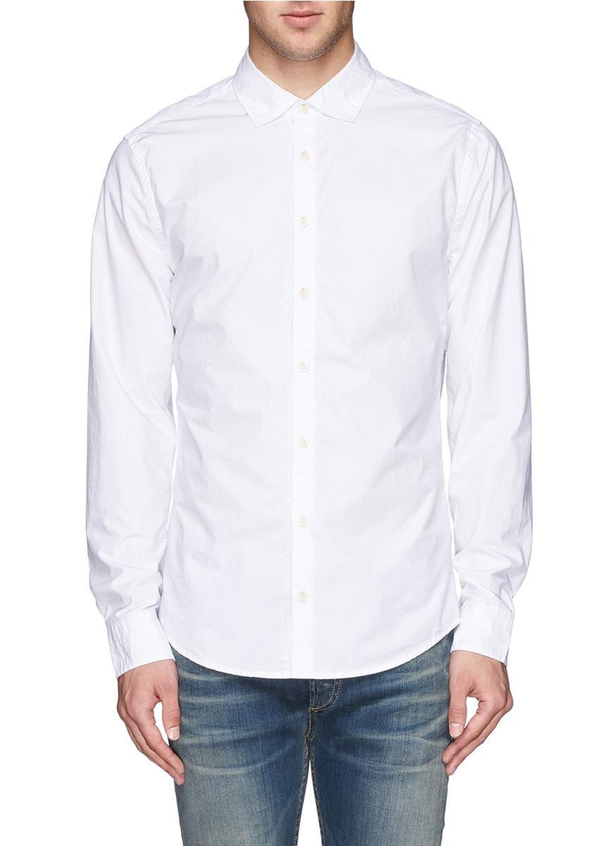 男士白色衬衣搭配图片