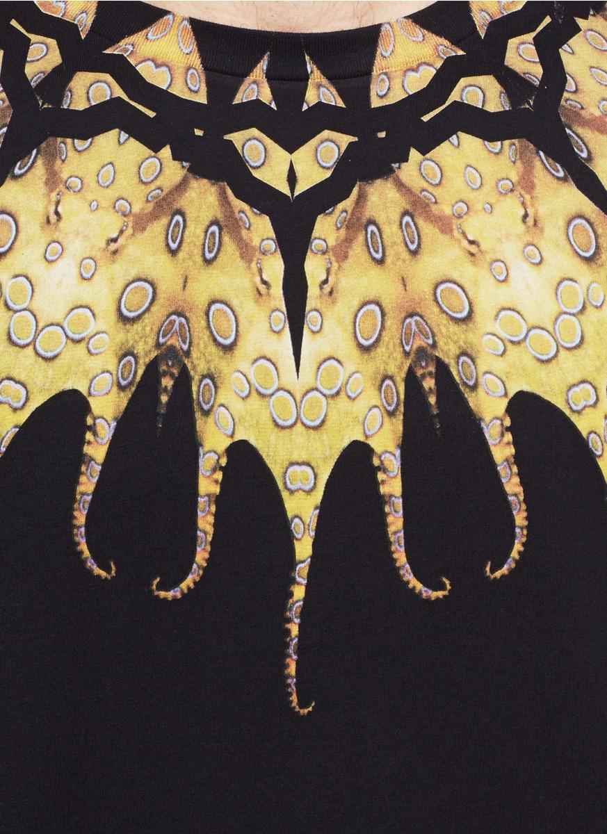 八爪鱼图案纯棉t恤
