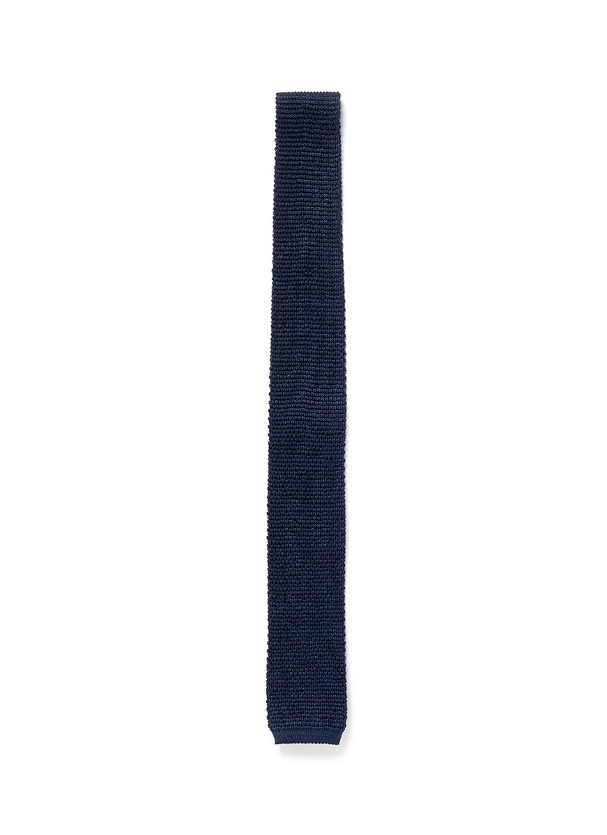 羊毛混丝针织领带