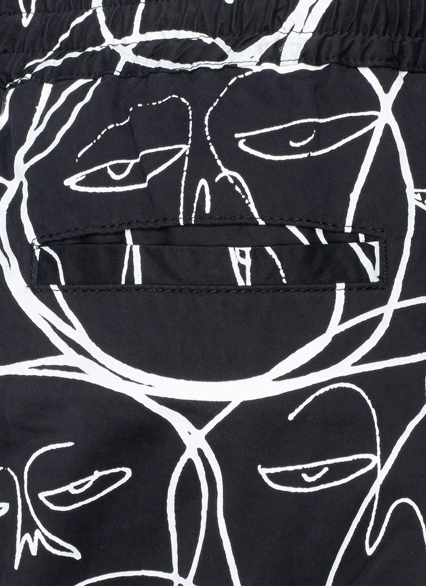 kind抽象人脸图案哈伦裤