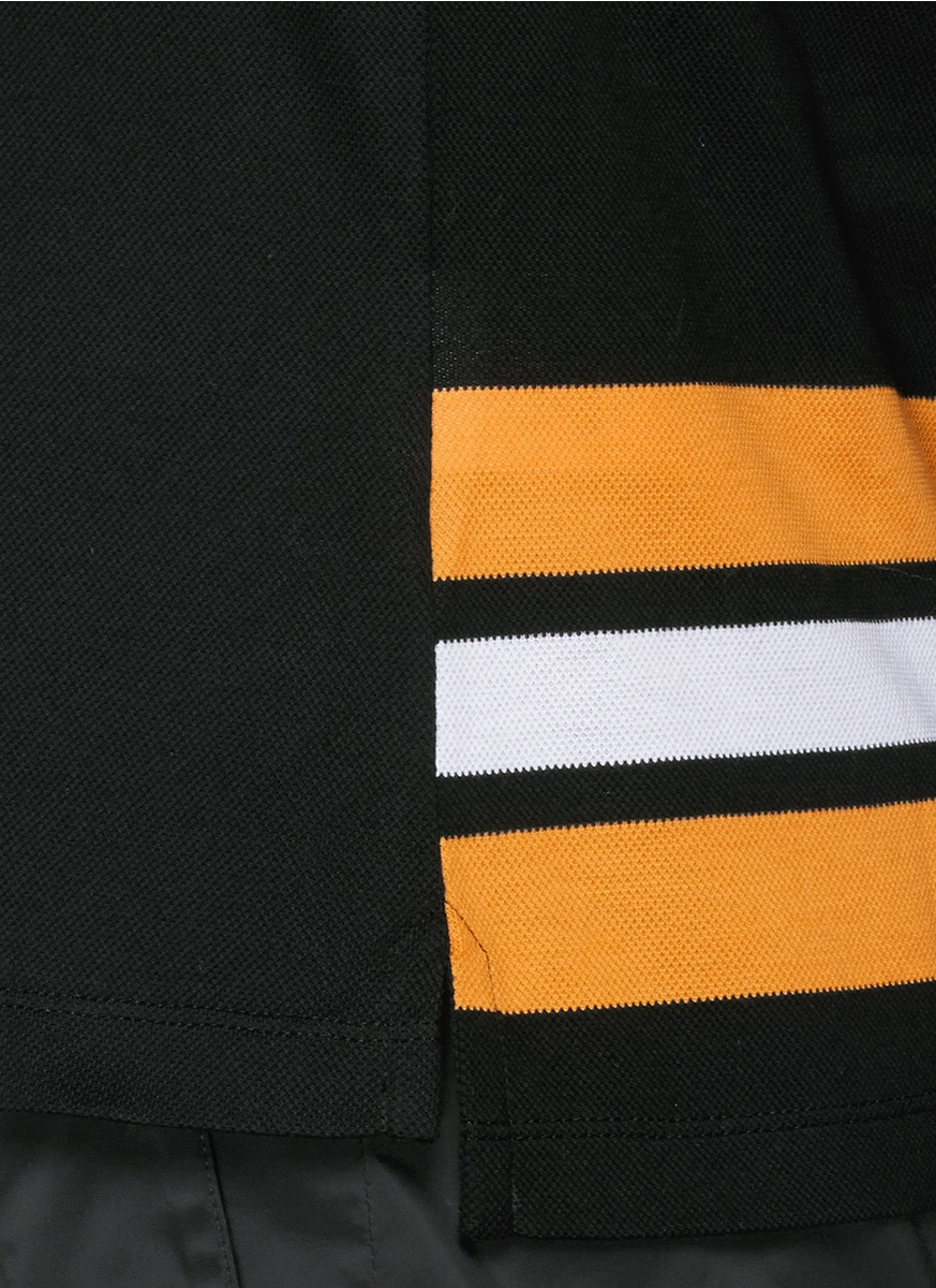 星星条纹纯棉马球衬衫