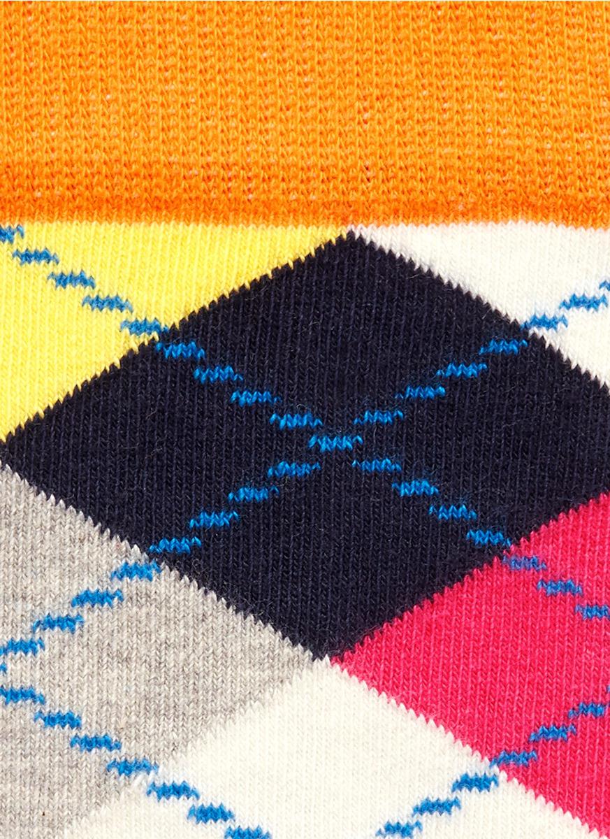 彩色菱形花纹袜子