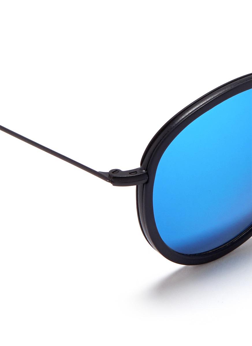 metro细圆框复古太阳眼镜