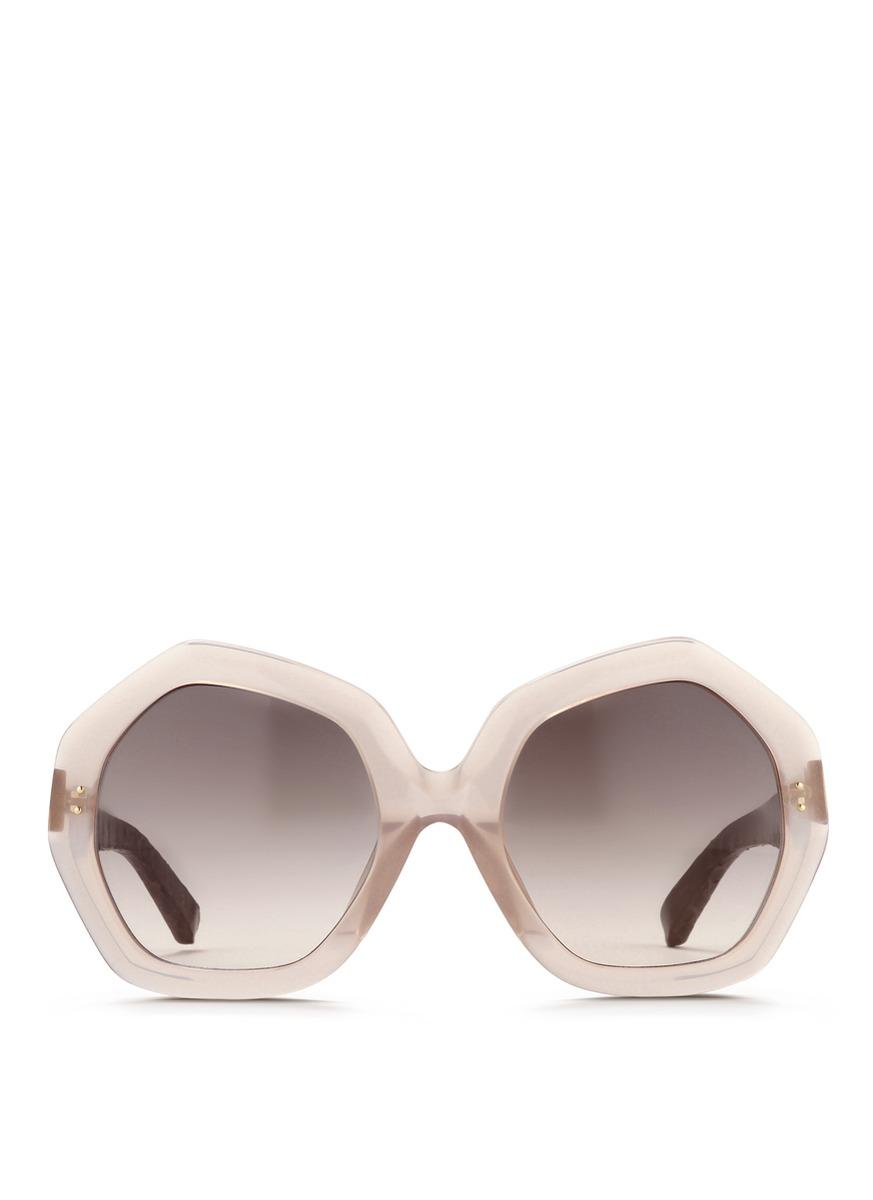 不规则边框板材太阳眼镜
