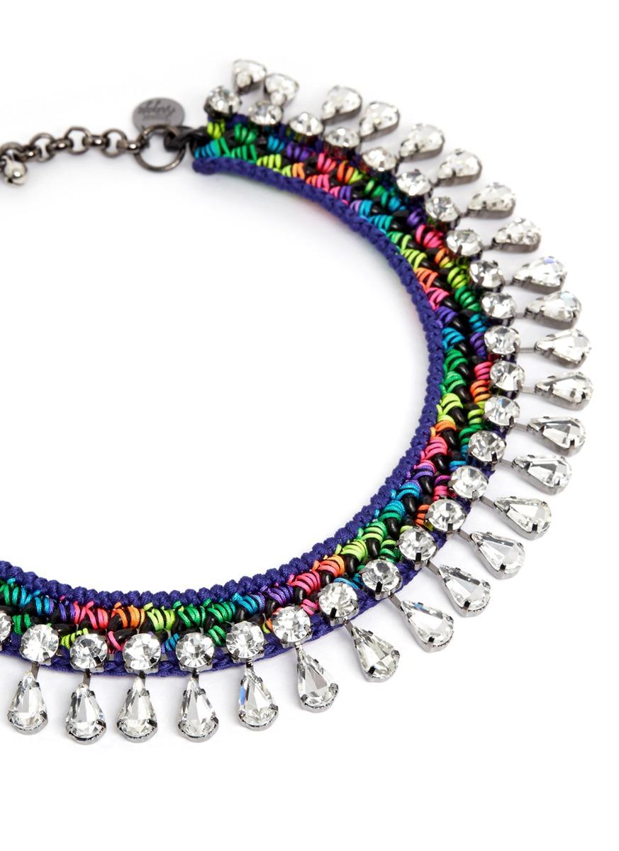 girls水晶编织项链
