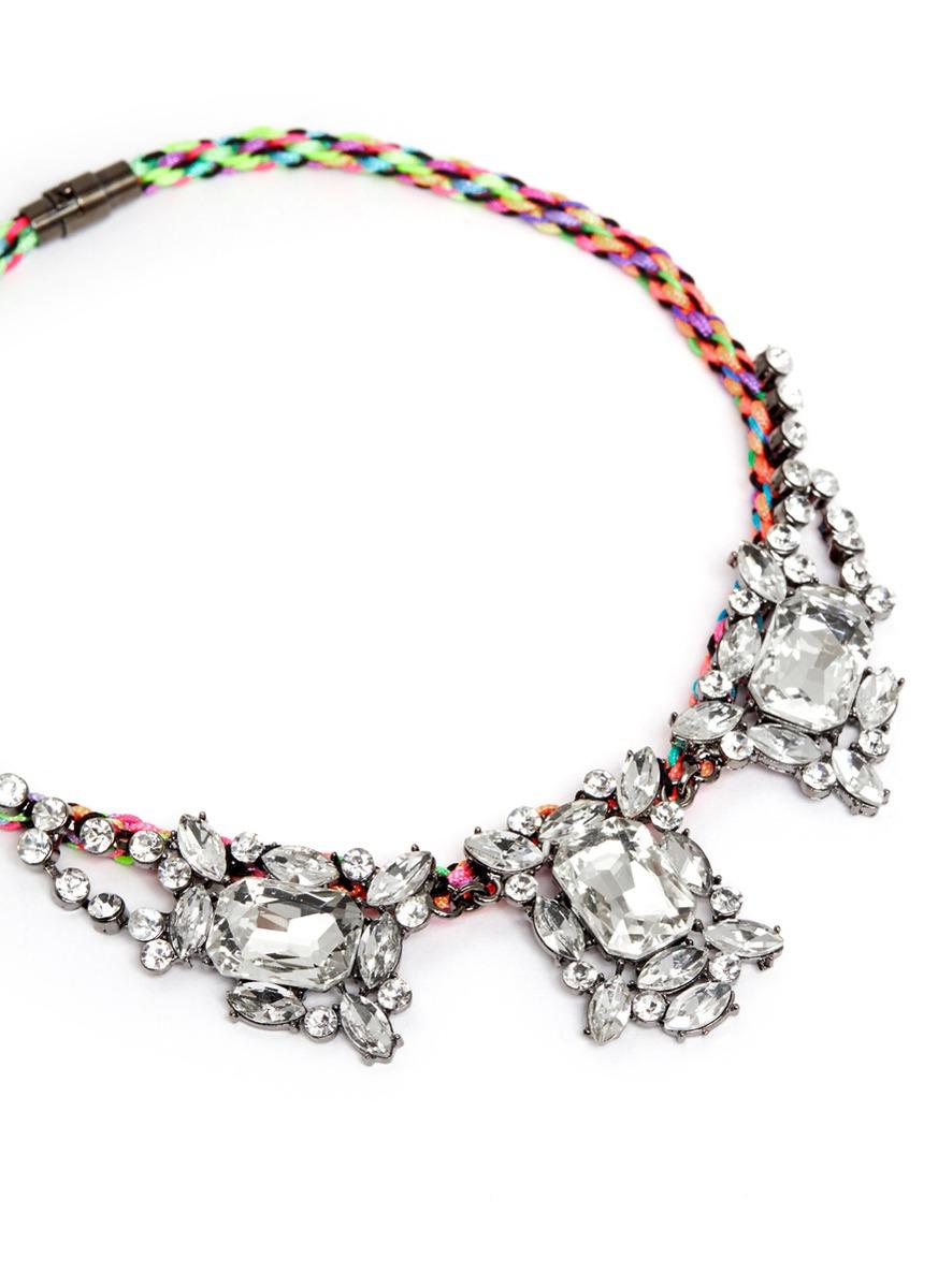 rave on水晶编织项链