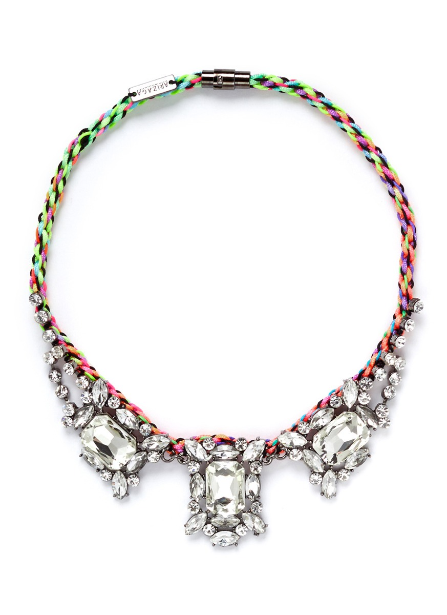 on水晶编织项链