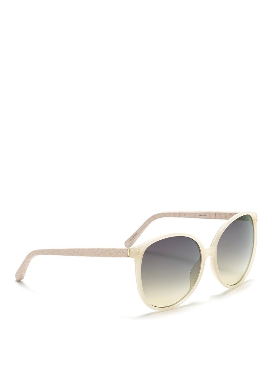 细边框猫眼太阳眼镜