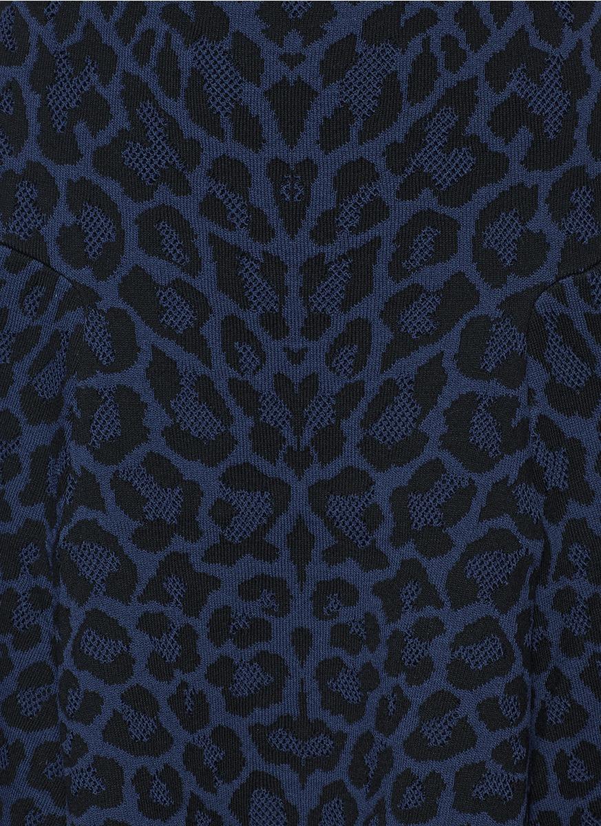 rvn - 豹纹半身裙 - 特卖 | 蓝色 半身裙 | 女装