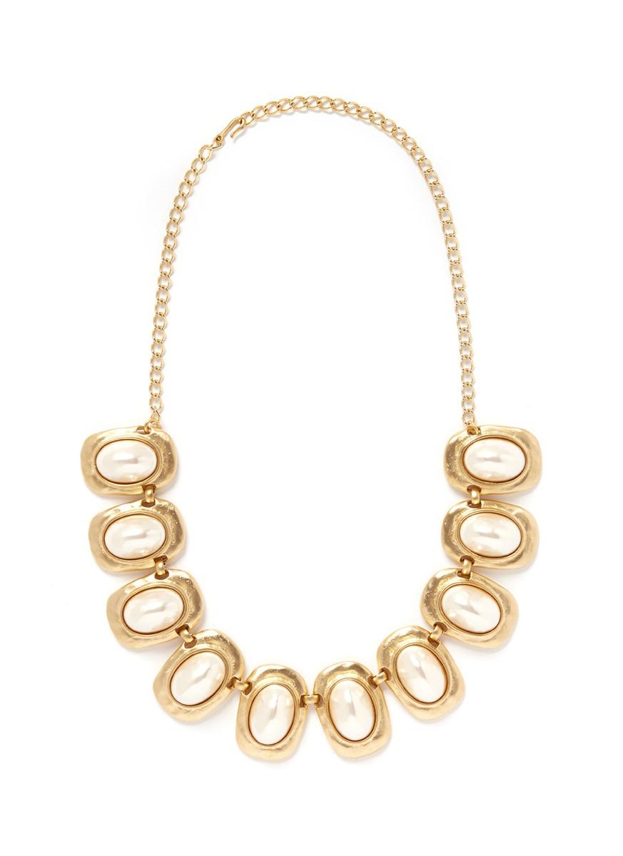 珍珠吊饰项链