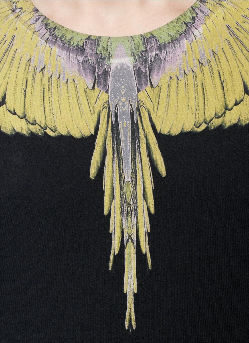 marcelo burlon - 翅膀图案短袖t恤