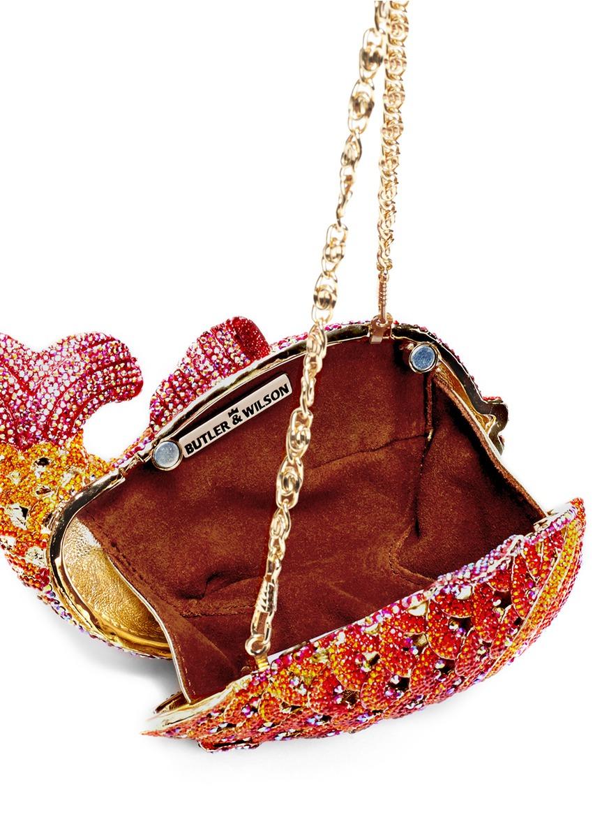 水晶金鱼手包