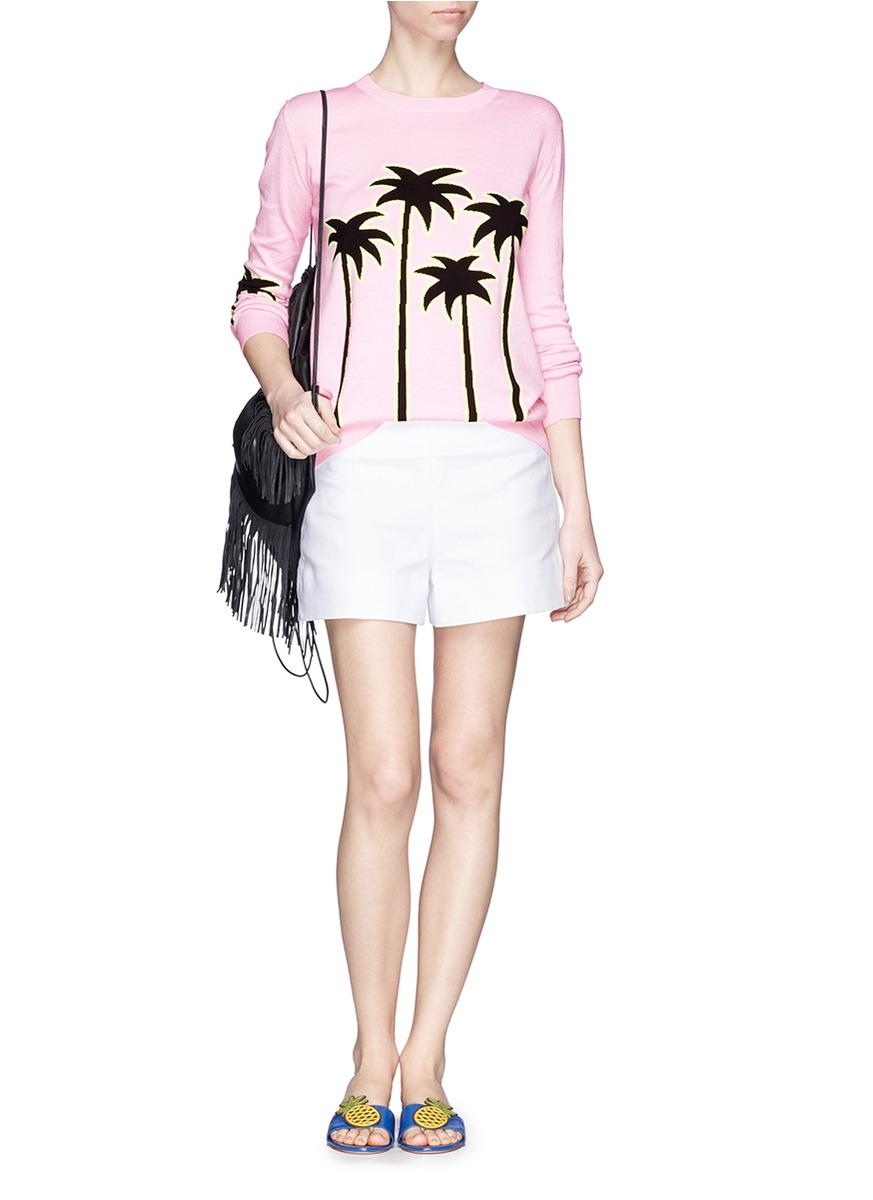 棕榈树图案针织衫
