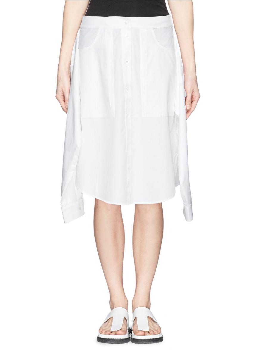 衬衫造型纯棉短裙