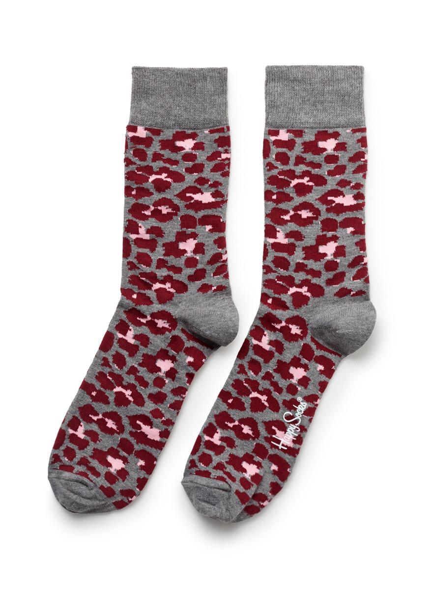 - 动物纹袜子
