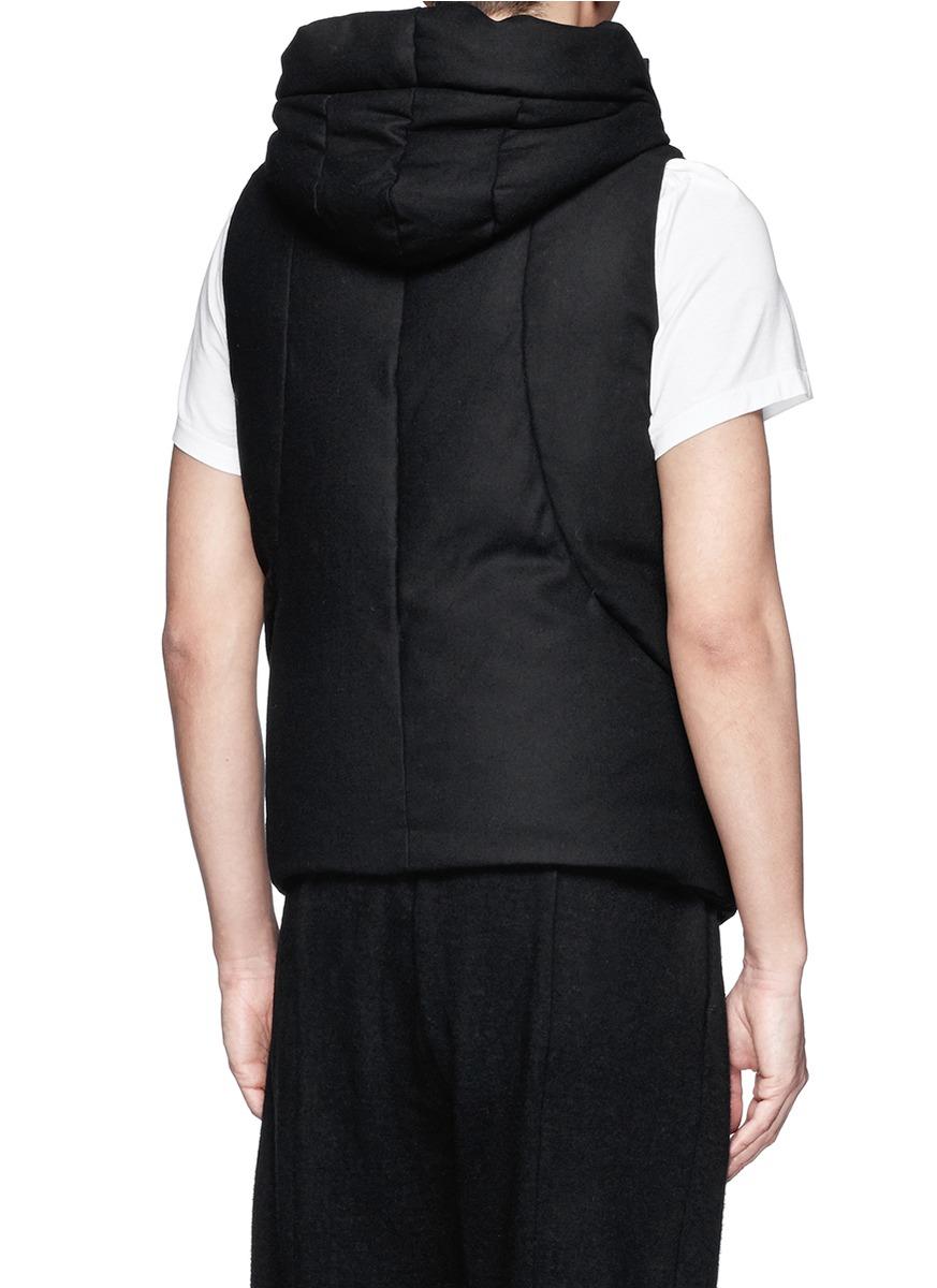 黑色背心棉衣搭配图片