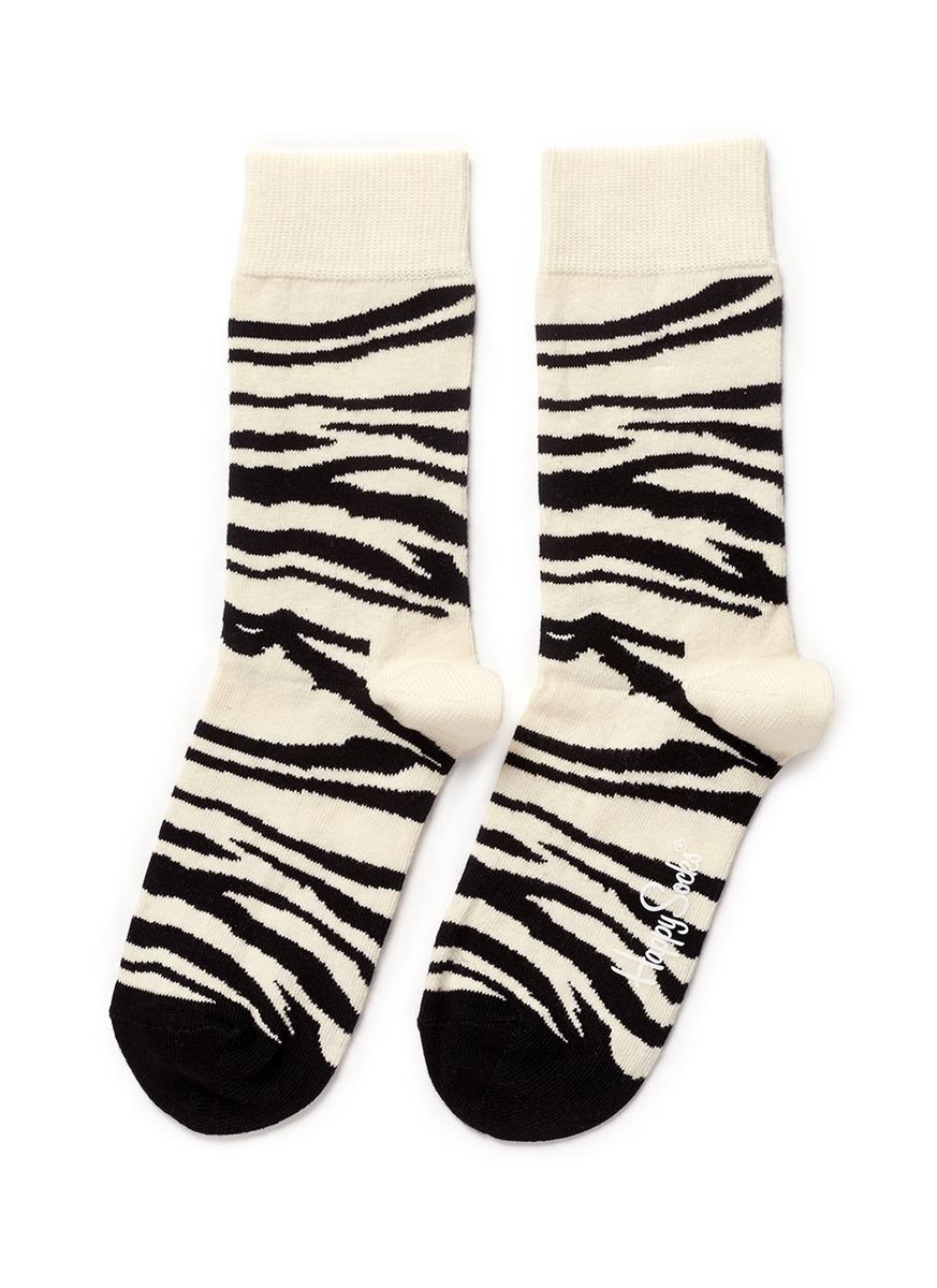 斑马纹袜子
