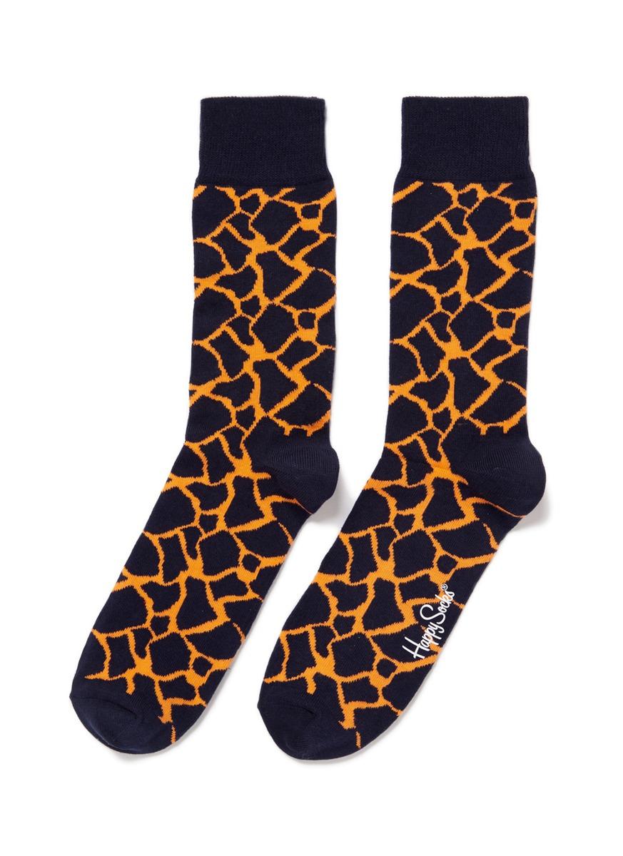 长颈鹿花纹袜子