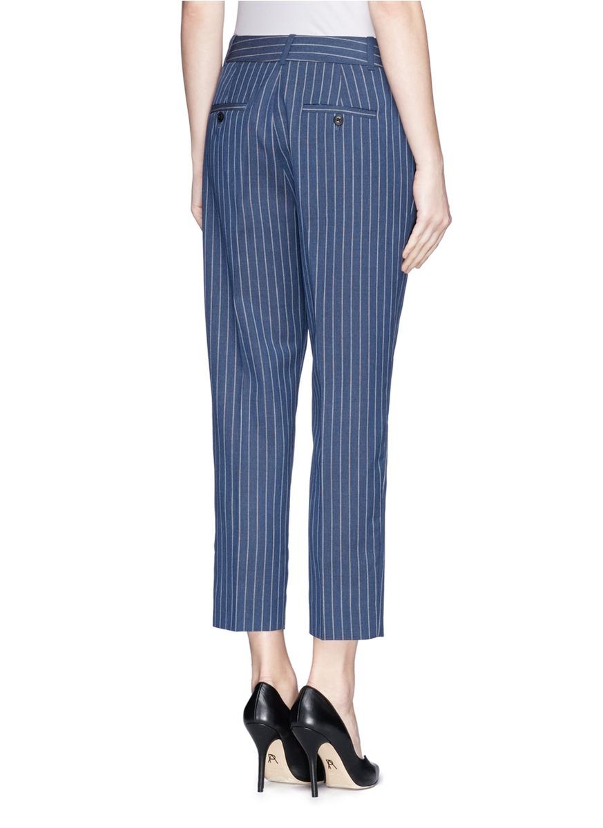 ludlow条纹羊毛西服裤