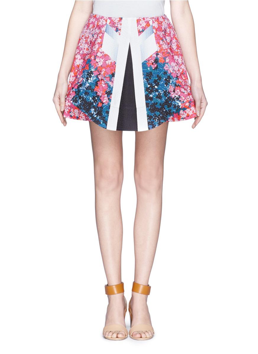 peter pilotto - 印花混棉短裙 - 特賣 | 多種顏色