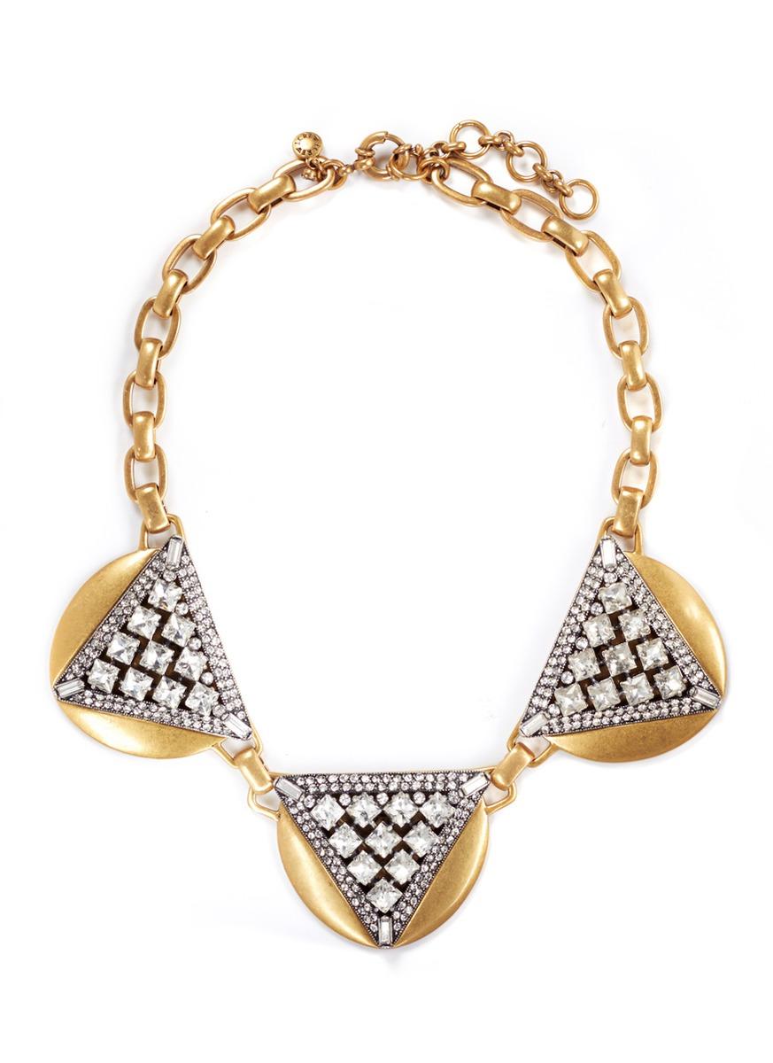 三角宝石项链