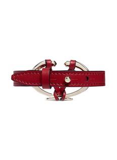 VALENTINO V字设计真皮手带