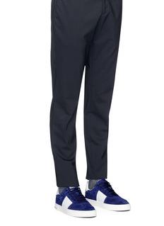 Valentino Flycrew小牛皮拼接绒面真皮运动鞋