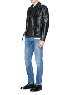 Valentino Rockstud Untitled 16 铆钉水洗棉质牛仔裤