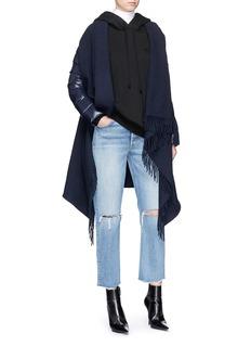 Moncler Mantella羽绒衣袖拼接羊毛夹克