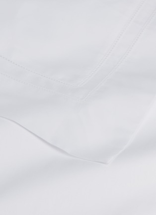 细节 –点击放大 - FRETTE - Doppio Ajour加大双人床镂空条纹棉缎四件套-白色