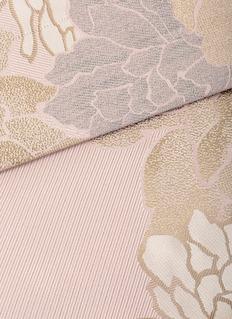 FRETTE Tweed Flower加大双人床花卉提花床品四件套-玫瑰粉色及米色