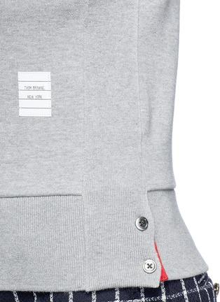 细节 - 点击放大 - Thom Browne - 四重条纹纯棉卫衣