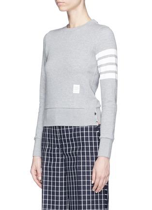 正面 -点击放大 - Thom Browne - 四重条纹纯棉卫衣