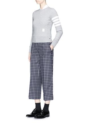 模特儿示范图 - 点击放大 - Thom Browne - 四重条纹纯棉卫衣