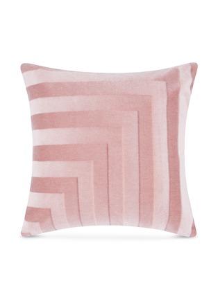 首图 –点击放大 - Tom Dixon - Deco条纹设计马海毛天鹅绒靠垫-粉红色