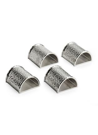 首图 –点击放大 - MICHAEL ARAM - Hammertone锤痕凹纹餐巾环四件套