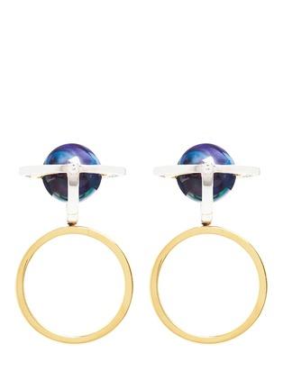 模特示范图 - 点击放大 - DE YEEN - Globe幻彩珍珠拼色戒指