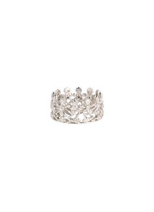 首图 - 点击放大 - CENTAURI LUCY - Hyacinth Crown钻石18k白金王冠戒指-顶部