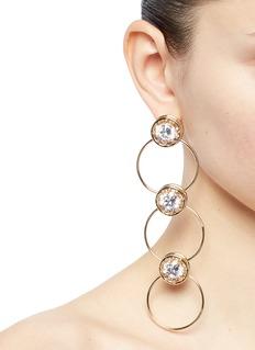 EDDIE BORGO 方晶锆石点缀三圈圆环耳环