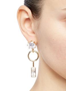 EDDIE BORGO 方晶锆石点缀几何造型耳环