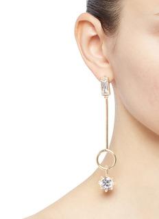 EDDIE BORGO 方晶锆石及圆环长吊坠耳环