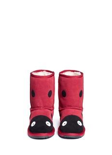 EMU AUSTRALIA Ladybird儿童款瓢虫造型绒面羊皮短靴