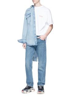 Balenciaga 纯棉水洗直脚牛仔裤