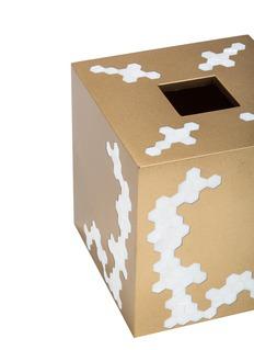 LABRAZEL Hex几何贝壳点缀纸巾盒-金色